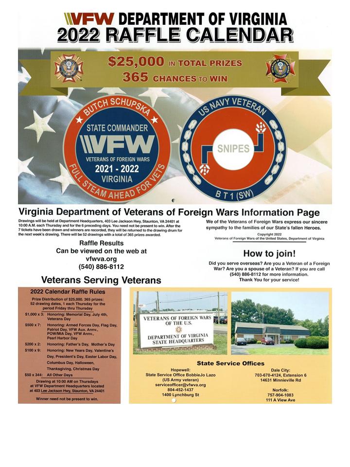 2022 VFW Calendar